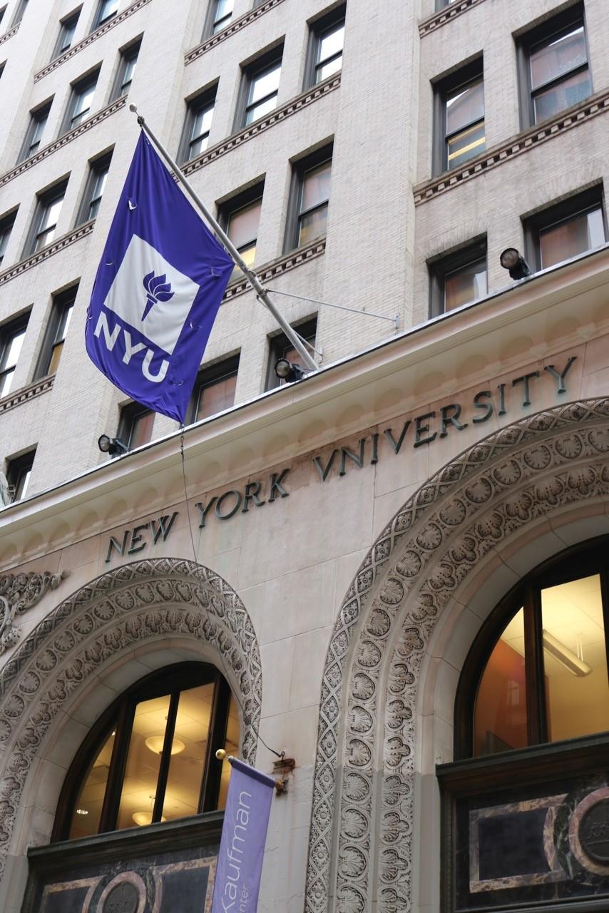 Foto von der Fassade der New York University