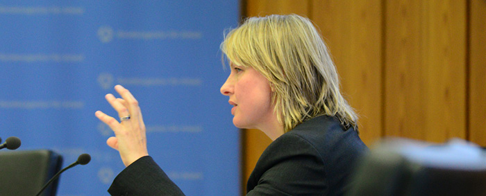 IAB-Forscherin Dr. Anja Warning präsentierte Ergebnisse einer Untersuchung zu den Determinanten der Dauer von Stellenbesetzungen.