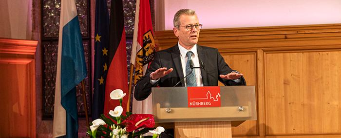 Nürbergs Oberbürgermeister Dr. Ulrich Maly hielt das Schlusswort.