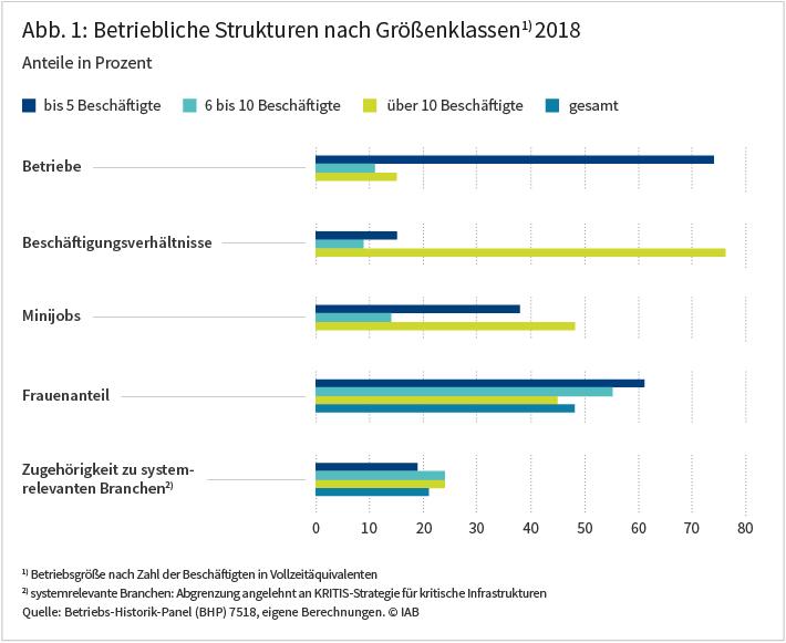 Abbildung 1: Betriebliche Strukturen nach Größenklassen 2018